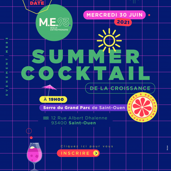 SAVE THE DATE SUMMER COCKTAIL 2021