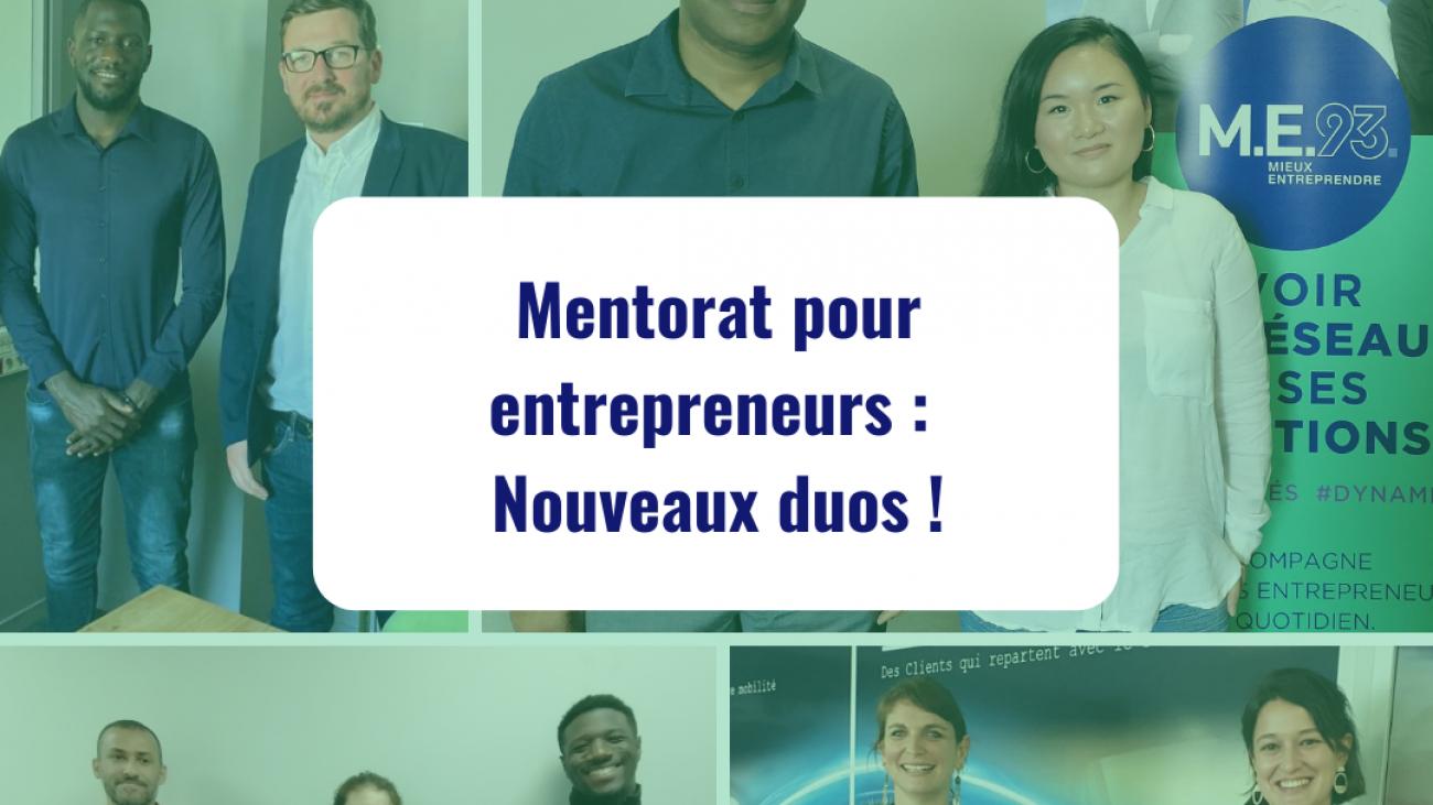 mentorat pour entrepreneurs nouveaux duos